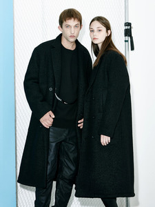 [Season Off 50% 세일]Oversize Double Pocket Coat (BK)