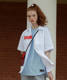 [발매기념 5% 세일]PVC Oversize Cotton Shirts(WH)