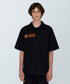 [발매기념 5% 세일]PVC Oversize Cotton Shirts(BK)