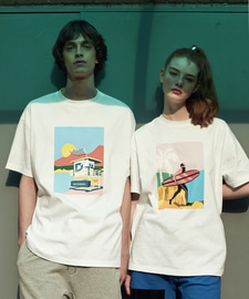 [발매기념 5% 세일]Sunset Beach T-Shirts(WH)