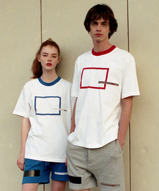 [발매기념 5% 세일]Square Printing T-Shirts(RE)