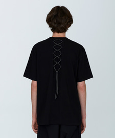 [발매기념 5% 세일]Back String T-Shirts(BK)