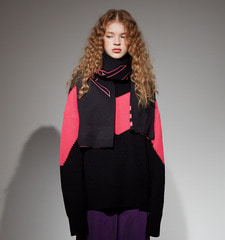 [18FW][시즌오프 30%세일] Color Blocking Pull Over knit (BK)