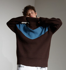 [18FW][시즌오프 30%세일] Color Blocking Pull Over knit (BR)