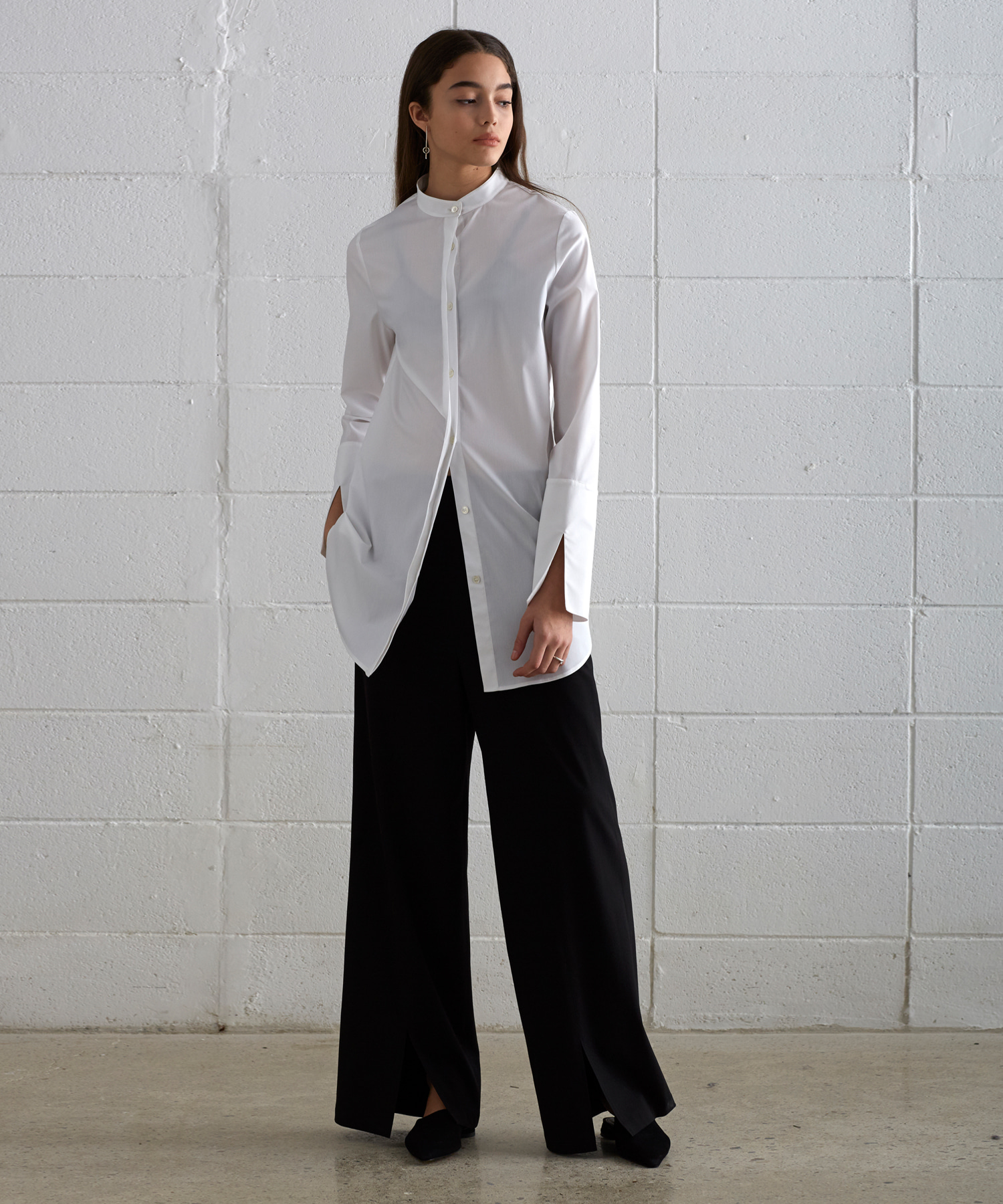 [19S/S] Front Slit Wide Pants (BK)