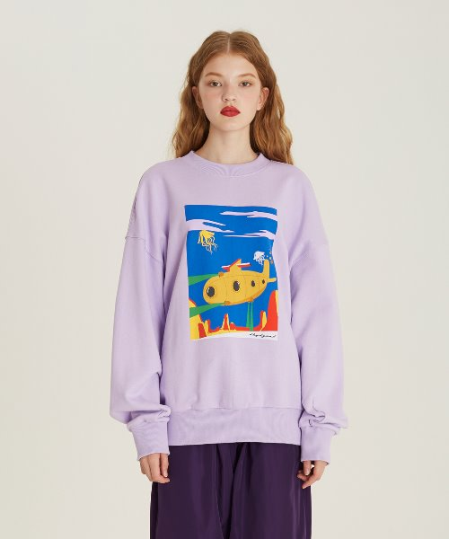 [18FW][50% 세일] Submarine Print Sweat Shirts(PU)