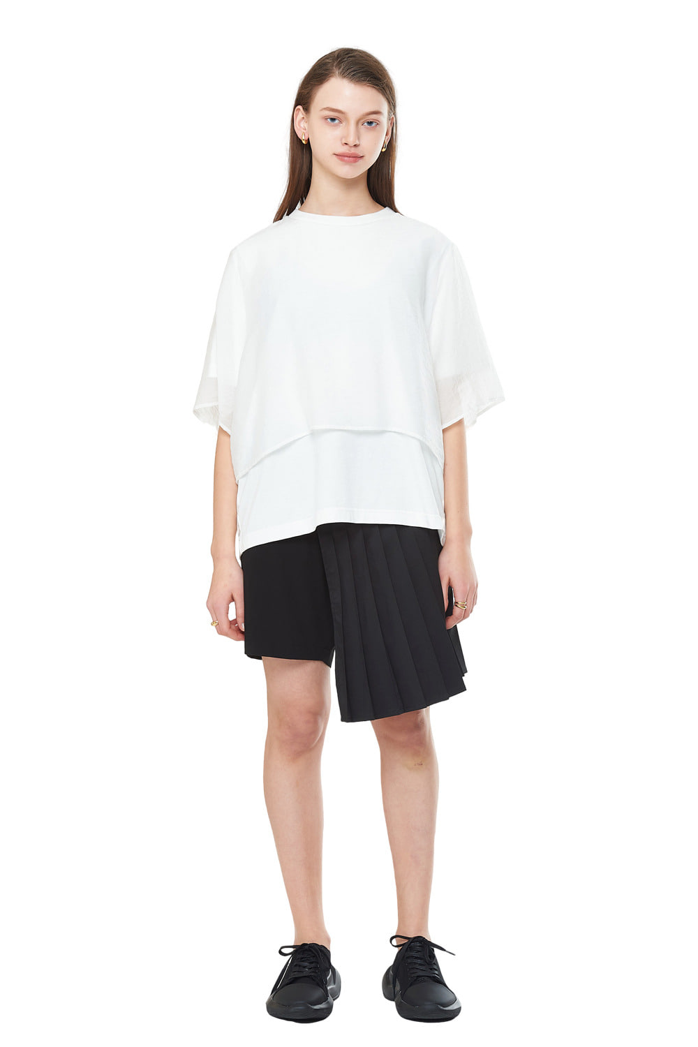 [20SS][50%SALE] Layered See-through T-Shirts (WH)_ W01TS0202