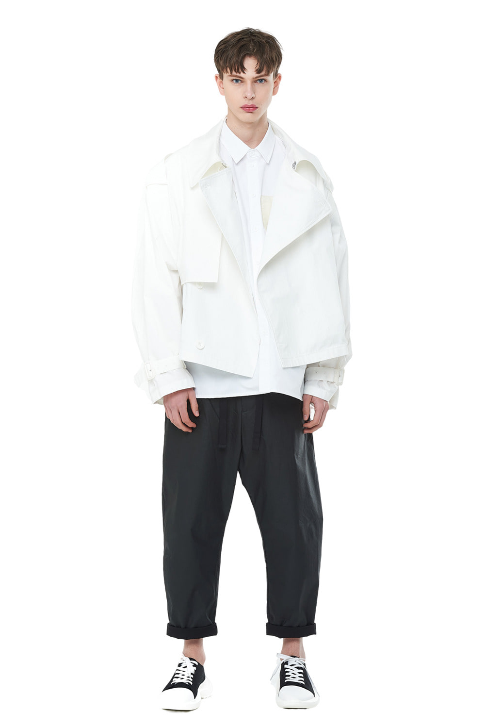 [20SS][50%SALE] Overfit Short Trench Coat (WH)_ PA1JP0606