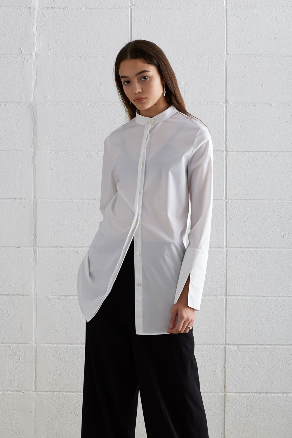 [19SS][70%SALE] China Collar Long Shirts (WH)