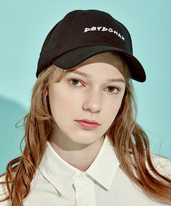 [클리어런스 70% 세일]Back Lace-Up Logo Cap (BK)